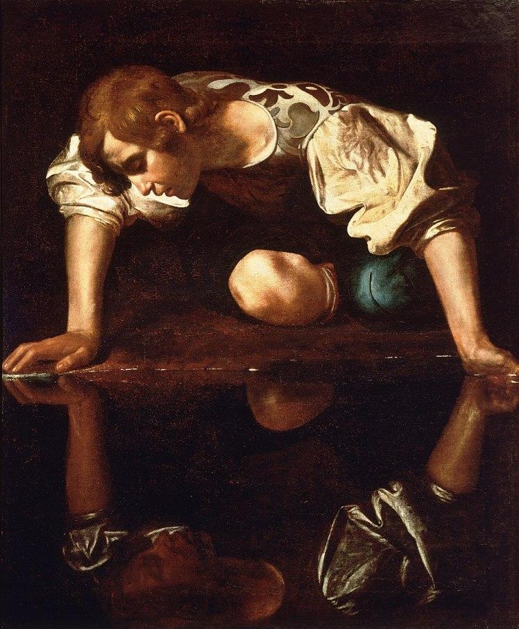 989px-Narcissus-Caravaggio_(1594-96)