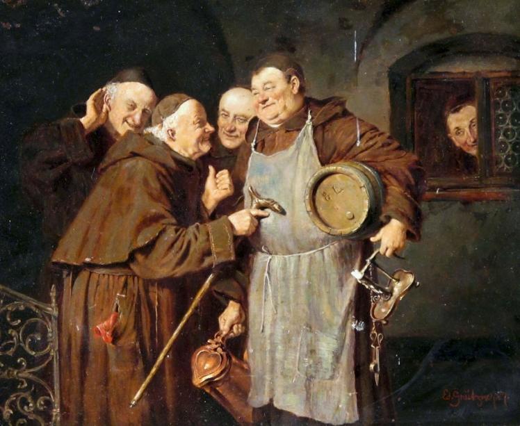Eduard Von Grutzner, Gossip in the Monastary, 1887